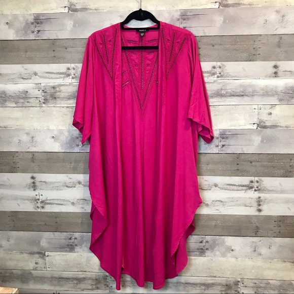 1bfa35c7f6 torrid Swim | Hot Pink Kimono Size 00 Plus Size Waterfall | Poshmark